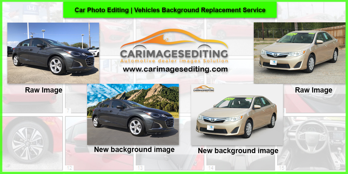 Car Photo Editing Vehicles Background Replacement Service