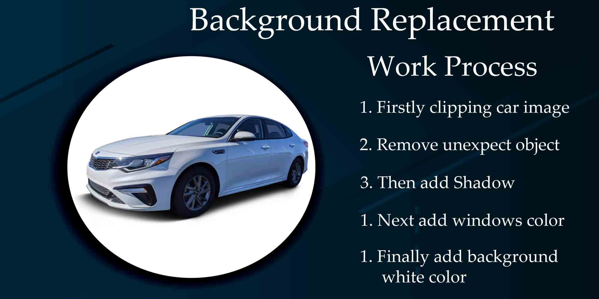 How To Change Automotive Dealership Photo Background For Increase Sales