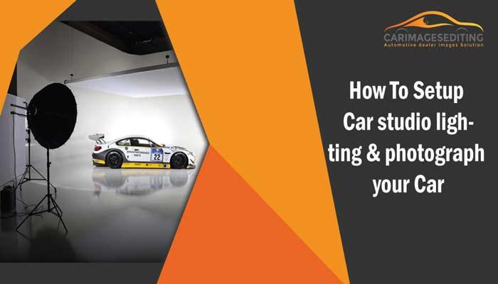 How To Setup Car studio lighting & photograph your Car