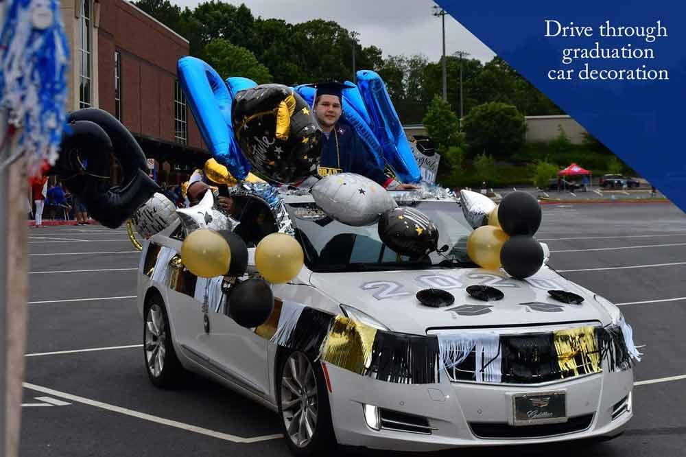 Drive-through-graduation-car-decoration
