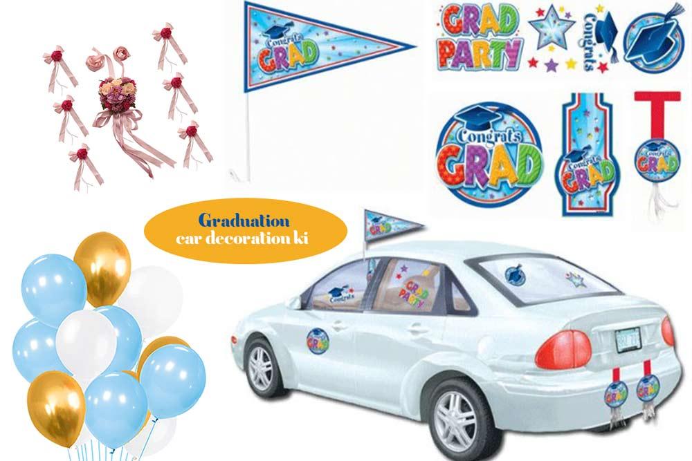 Graduation-car-decoration-kit- How To Decorate Car For The Graduation Parade