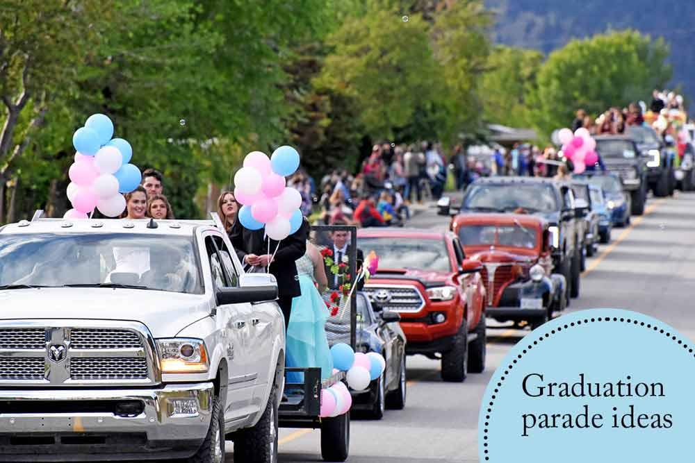 Graduation-parade-ideas- how to decorate car for graduation parade